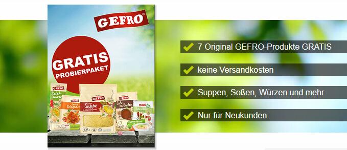 kostenlose Paket von Gefro