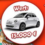 Gewinnspiel um einen Fiat 500