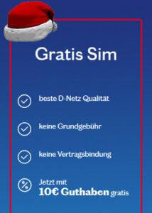 kostenlose SIM Karte bestellen