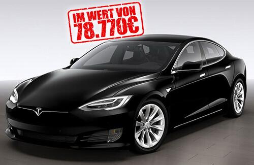 Gewinnspiel um einen Tesla S